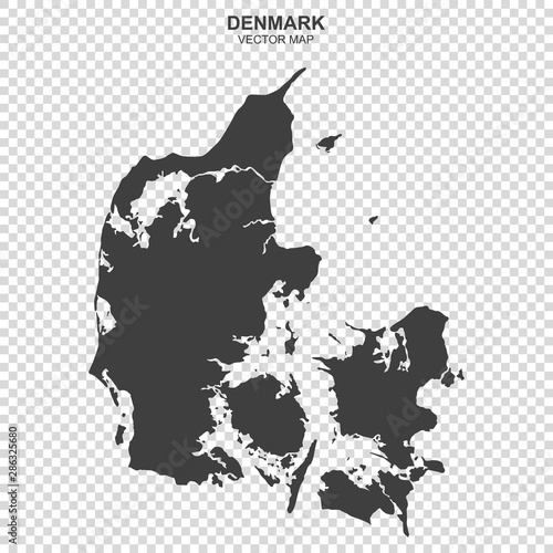 vector map of Denmark on transparent background Canvas Print