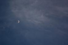 Half Of Moon In The Dark Blue ...