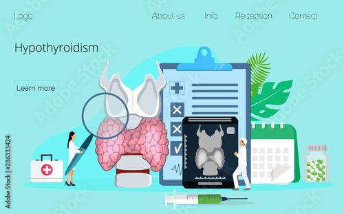 Fotografie, Tablou  Hypothyroidism concept vector