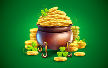 Pot With Gold Coins For Saint ...