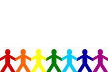 Rainbow Coloured Paper Men Cut...