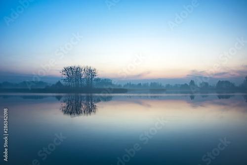 drzewa-na-brzegu-mglistego-jeziora