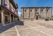Church Of San Juan Del Mercado In The Wheat Or Market Square In Atienza In The Province Of Guadalajara (Spain)