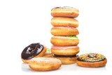 Fototapeta Kawa jest smaczna - Stack of Donuts