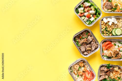 Fototapeta Healthy food delivery obraz