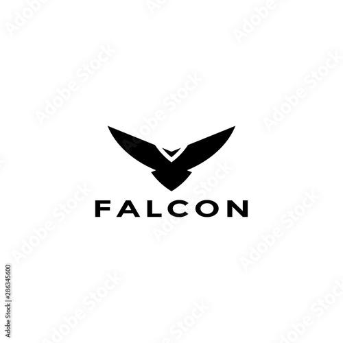 Eagle logo vector design, falcon logotype template, hawk illustration Fototapete