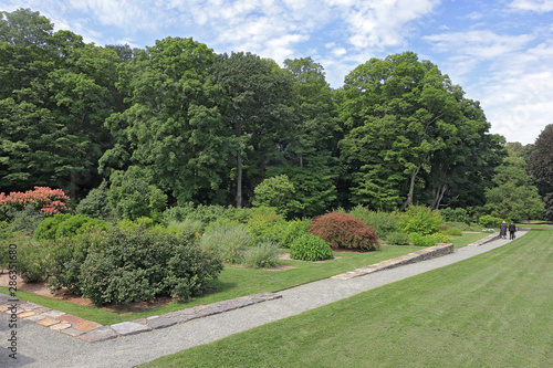 Beautiful landscape in Arnold Arboretum of Harvard University, Boston, Massachus Wallpaper Mural