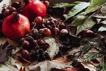Autumn Still Life. Apple, Pump...