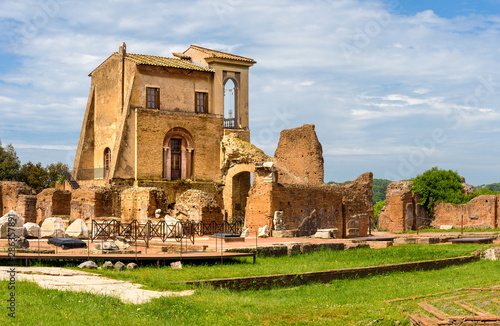 Fotografie, Obraz View to ancient Flavian Palace - Domus Flavia- on Palatine hill, Rome, Italy
