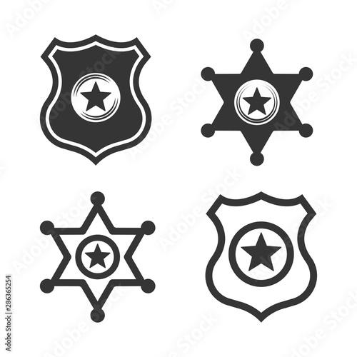Fotografía  police and sheriff vector badges