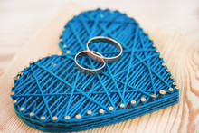 Close Up View On String Art He...
