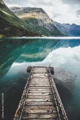 Tablou Canvas Lovatnet Lake views around Geiranger, in Norway