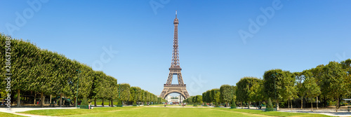Photo Stands Eiffel Tower Paris Eiffel tower panorama France panoramic view travel