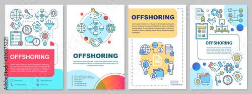 Pinturas sobre lienzo  Offshoring brochure template layout