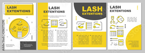 Fotografie, Obraz Lash extension brochure template layout