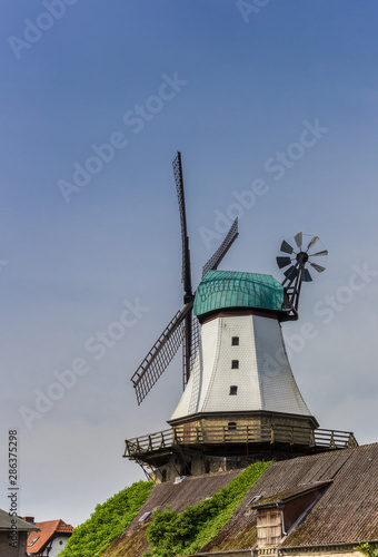 Windmill Amanda in the historic center of Kappeln, Germany Canvas Print