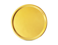 Gold Coin Sign Isolated On A W...