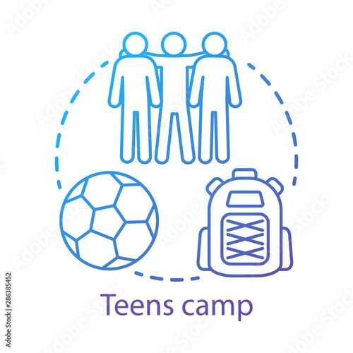 Photo Teens camp concept icon