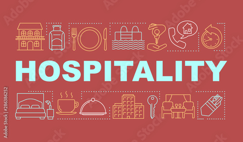 Fotomural Hospitality word concepts banner