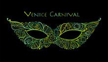Carnival Venetian Mask Ornamental For Your Design