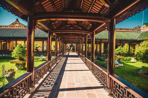 Obraz na płótnie Hue imperial palace and Royal Tombs in Vietnam