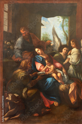 ARCO, ITALY - JUNE 8, 2018: The painting of Holy Family in the church Chiesa Collegiata dell'Assunta by unknown artist.