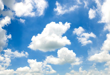 Blue Sky With Cloud In Bright ...
