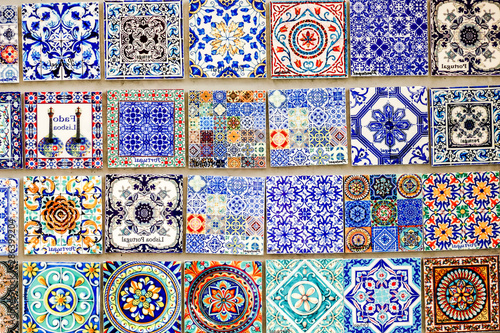 Azulejo portugal mosaic tile Canvas Print