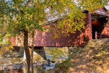 Covered Bridge Over Rocky River