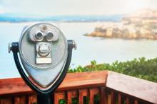Binoculars On The Panoramic Tower