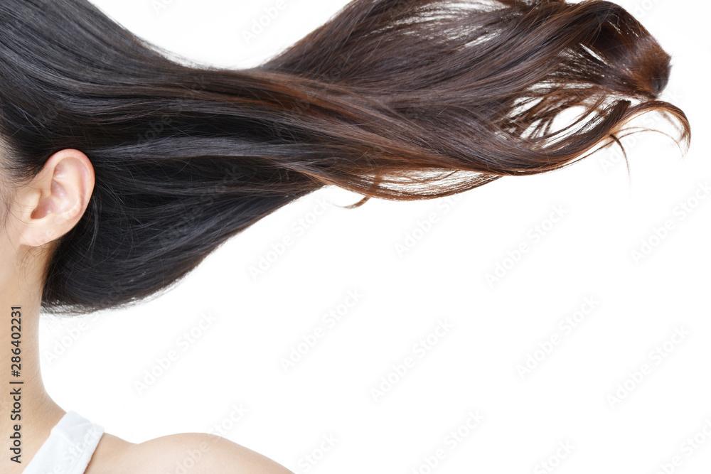 Fototapeta 艶やかな美しい女性の髪