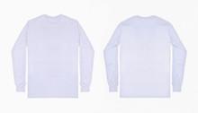 White Long Sleeve T Shirt Fron...
