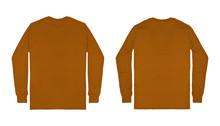 Blank Plain Brown Long Sleeve ...
