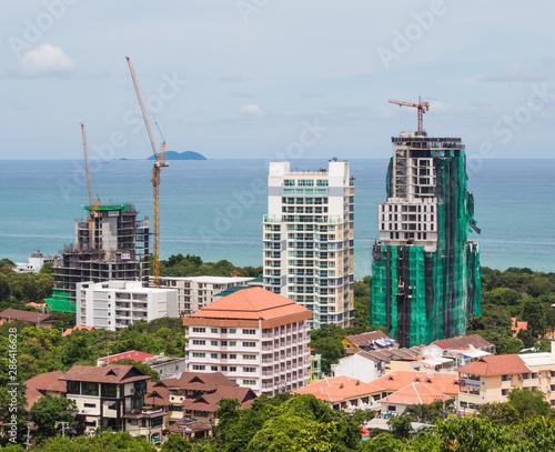 Buildings on the island