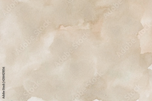 abstract beige splotchy ink watercolor paper background Wallpaper Mural