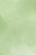 Abstract Green Splotchy Ink Watercolor Background
