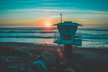 Encinitas Moonlight Beach Sunset