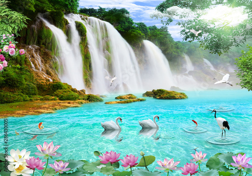 3d background nature wallpaper - 286430005
