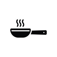 Black Solid Icon For Frying Pan