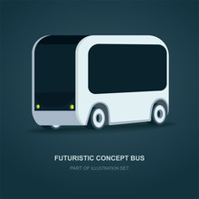 Futuristic Bus. Future City Bu...