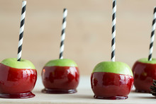 Apple Candy,row Of Apple Candies