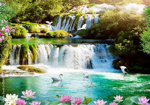 Fototapeta 3d background nature wallpaper