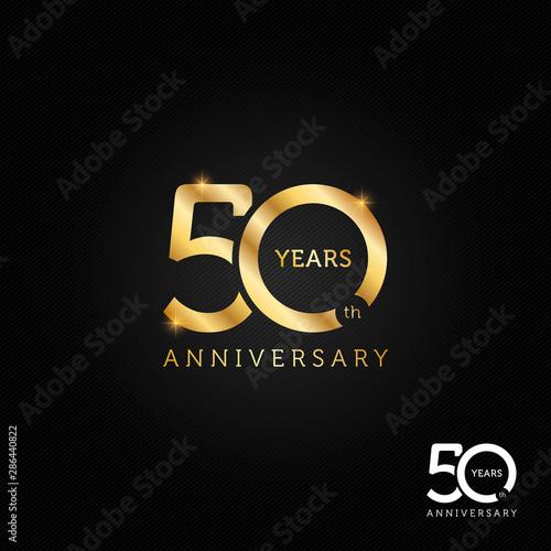 Tela  50 years anniversary logo, icon and symbol vector illustration