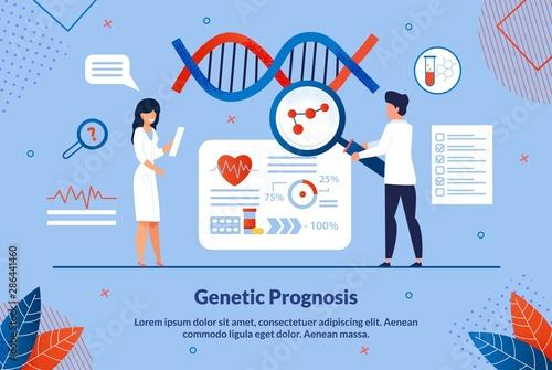Fotografía  Flat Banner Inscription Geneticist Prognosis.