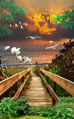 3d background nature wallpaper