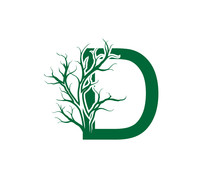 Abstract Letter D Nature Nature Dead Tree Logo Icon.