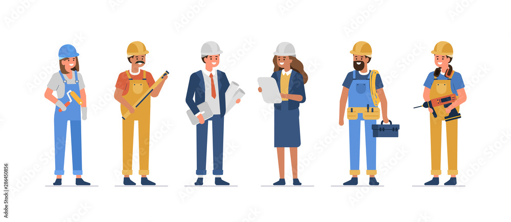 Fototapeta construction workers