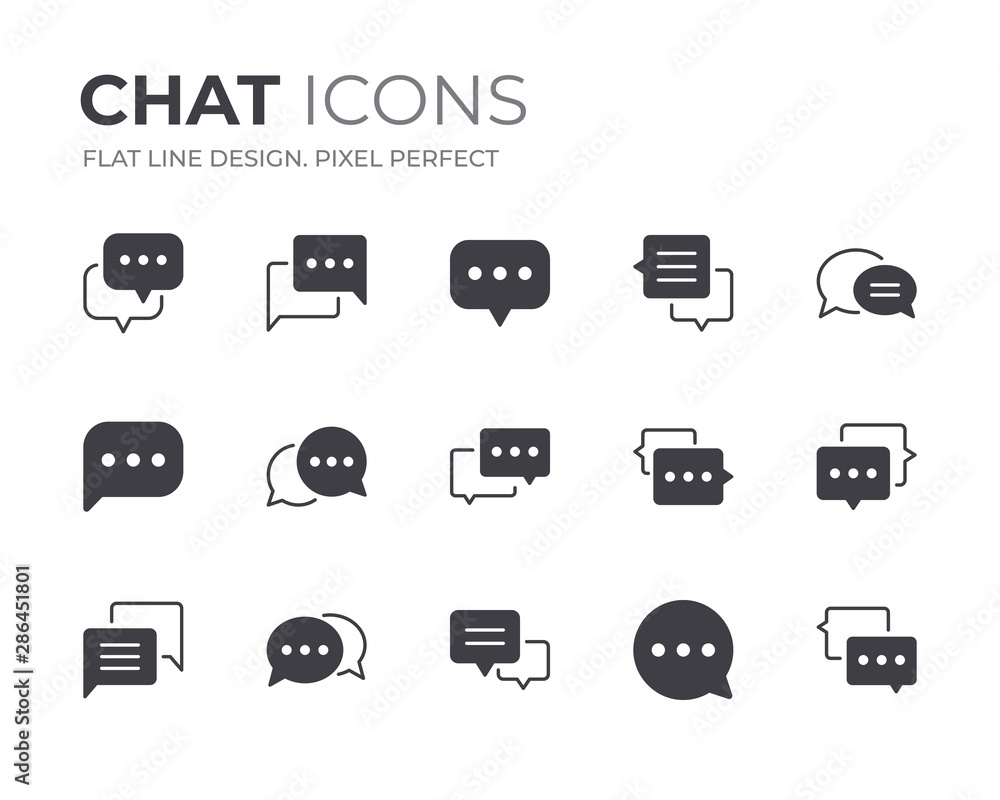 Fototapeta Chat Bubble Icons Set