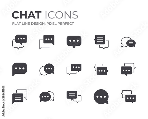 Chat Bubble Icons Set