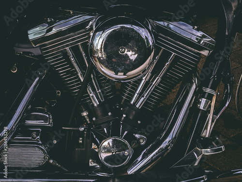 Harley Davidson Evolution 1340 engine Wallpaper Mural